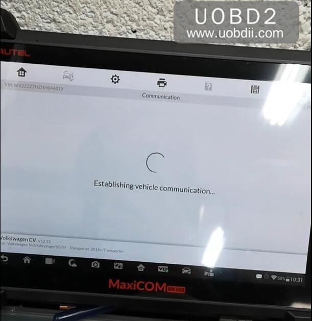 Autel MK908P Speed Limit Coding for VW T6 Delphi DCM6.2 (10)