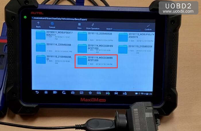 Autel IM608 & G-Box Perform All Key Lost Programming for Benz W207 (23)