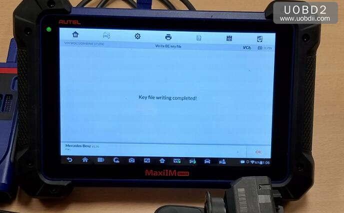 Autel IM608 & G-Box Perform All Key Lost Programming for Benz W207 (24)