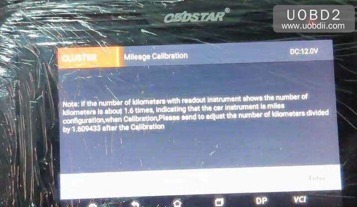 OBDSTAR ODO Master Mileage Correction for Mazada 3 2012 (3)