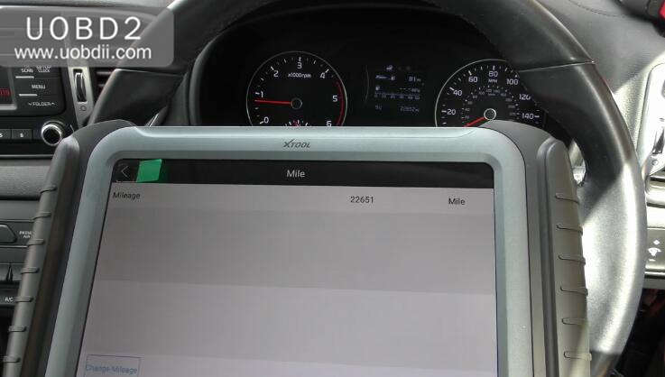 XTOOL A80 Mileage Adjustment for KIA Sportage (9)
