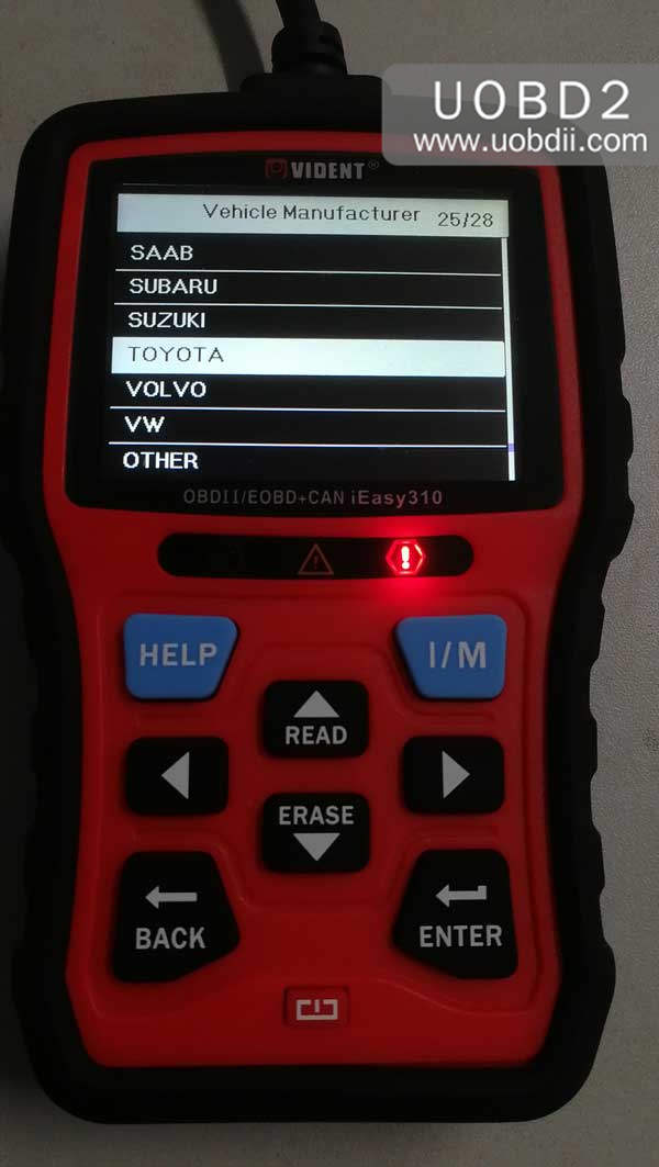 vident-ieasy310-scanner-review-on-diagnosing-toyota-camry-27