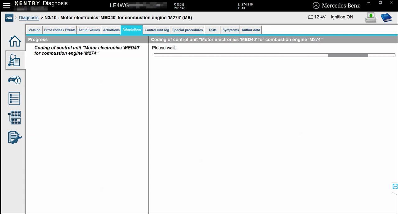 mercedes-w205-engine-online-coding-with-vxdiag-c4-10