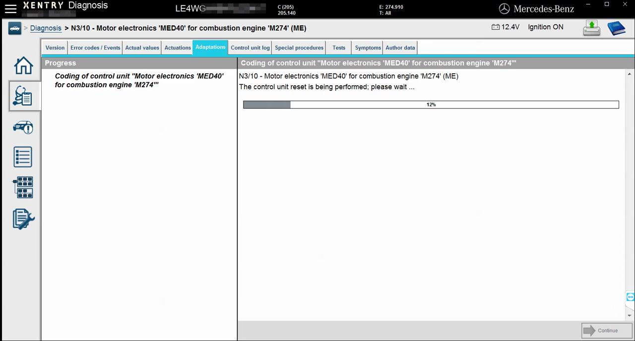 mercedes-w205-engine-online-coding-with-vxdiag-c4-11