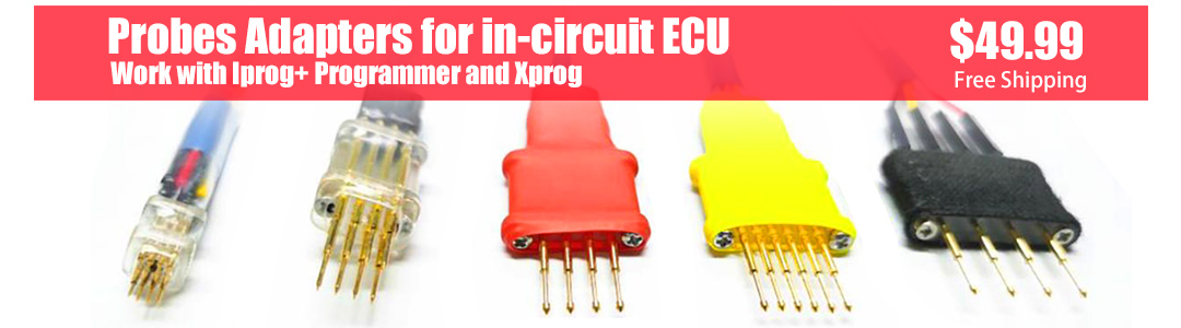 Probes Adapters for in-circuit ECU Work with Iprog