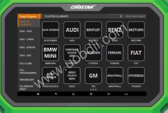Audi-A4L-2012-Odometer-Calibration-by-OBDSTAR-X300-DP-Plus-2