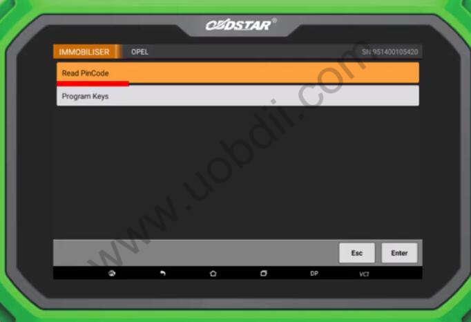 OBDSTAR-X300-DP-Plus-Read-Pin-Code-for-Opel-ME75.5-ECM-3