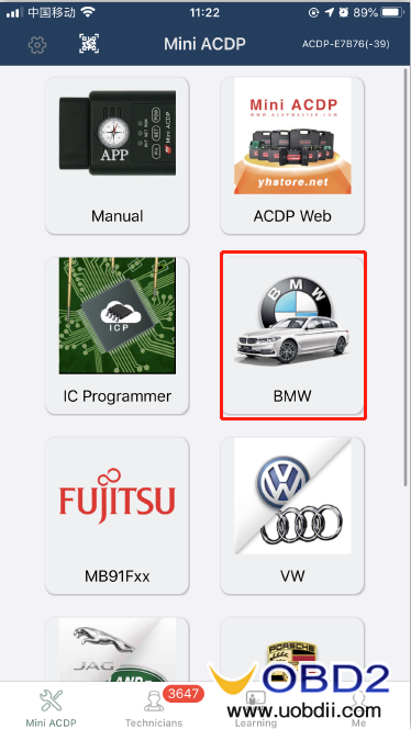 how-to-use-yanhua-bmw-dme-adpter-x4-03