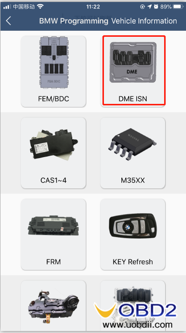 how-to-use-yanhua-bmw-dme-adpter-x7-04