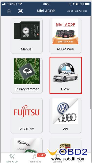 how-to-use-yanhua-bmw-dme-adpter-x8-08