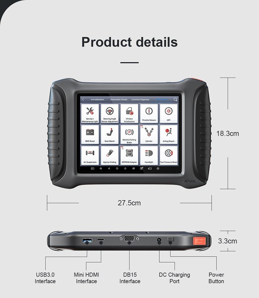 XTool X100 Pad Elite (X100 Pad3) device detail