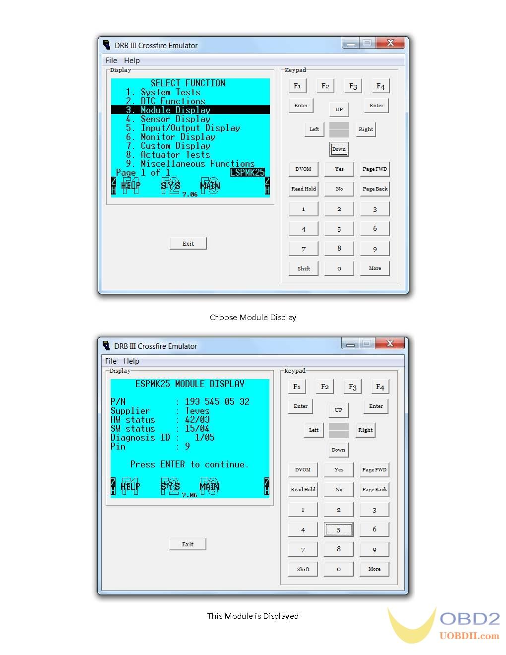 working-dbr-iii-emulator-for-chrysler-crossfire-2005-07