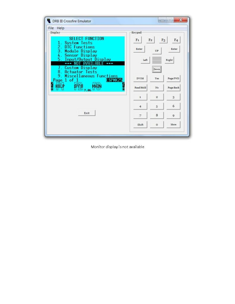 working-dbr-iii-emulator-for-chrysler-crossfire-2005-10