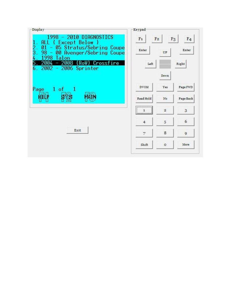 working-dbr-iii-emulator-for-chrysler-crossfire-2005-17