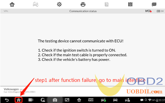 How to catch the system log with Autel IM608 step 1